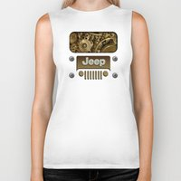 jeep Biker Tanks featuring Steampunk Jeep with Gear machines iPhone 4 4s 5 5c 6, pillow case, mugs and tshirt by Greenlight8