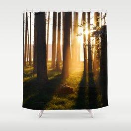 Scenic sunset Shower Curtain