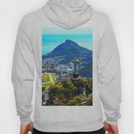 Beautiful Aerial view of Rio de Janeiro with Christ Redeemer and Corcovado Mountain - Brazil Hoody