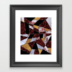 Abstract #459 Stone and Metal Shards Framed Art Print