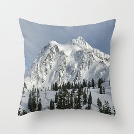 Snow Top Throw Pillow