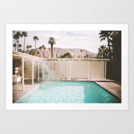 Palm Springs Pool Art Print