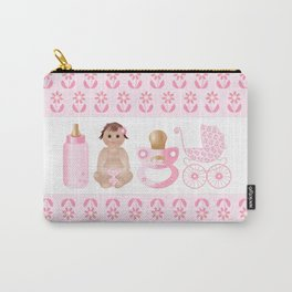 Baby Pink, Baby Girl, Pink Bottle, Bottle, Pink Pacifier, Pacifier, Pink Pram, Pram Carry-All Pouch