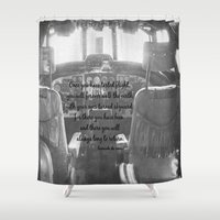 da vinci Shower Curtains featuring Flight Skyward Da Vinci by KimberosePhotography