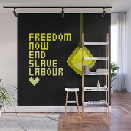 End Slave Labour Wall Mural