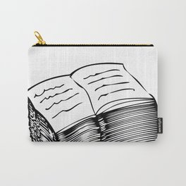 Read and Write A to Z Black on White Carry-All Pouch