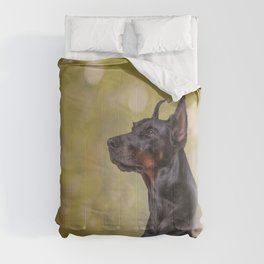 Drawing Doberman dog 2 Comforters