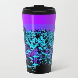 Mod Trees: Purple Violet Turquoise Travel Mug