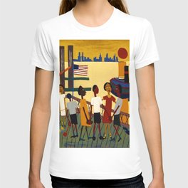 African American Masterpiece 'Ferry' NYC by William Johnson T-shirt