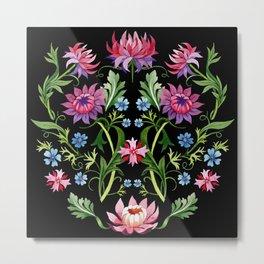 Medici Midnight Garden Renaissance Metal Print
