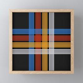 Shigetsugu - Grid Cross Retro Stripes Framed Mini Art Print