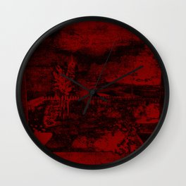 Blood Red Negative Wall Clock