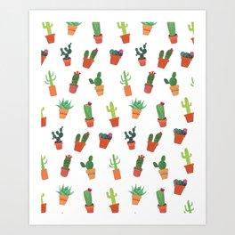 Happy Succulents Art Print