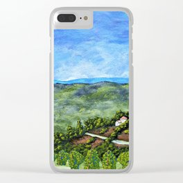 Vineyards Near Nice, France by Mike Kraus - art french france p Clear iPhone Case