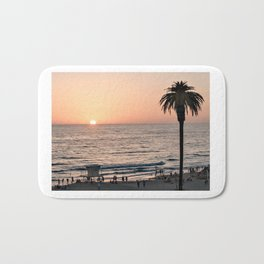 Moonlight Beach Sunset Bath Mat