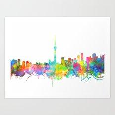 toronto city skyline Art Print