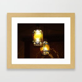 Moroccan Lamps Framed Art Print