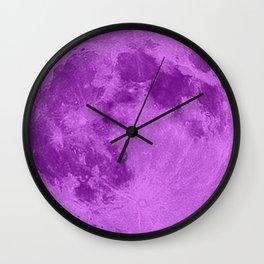 MOON GLOW PURPLE Wall Clock