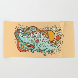 Star Stego   Retro Reptile Palette Beach Towel