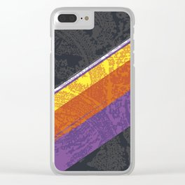 Retro Wash Clear iPhone Case
