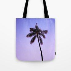 palm tree ver.violet Tote Bag
