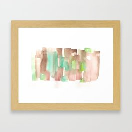 [161228] 8. Abstract Watercolour Color Study |Watercolor Brush Stroke Framed Art Print