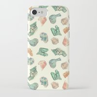 minerals iPhone & iPod Cases featuring Myriad Minerals by Portable City Illustration