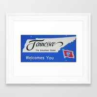 tennessee Framed Art Prints featuring Tennessee by sannngat