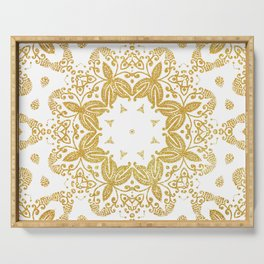Golden mandala Serving Tray