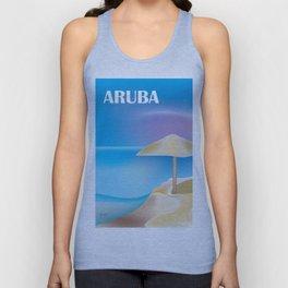 Aruba - Skyline Illustration by Loose Petals Unisex Tank Top