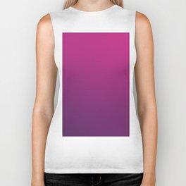 PURPLE HAZE - Minimal Plain Soft Mood Color Blend Prints Biker Tank