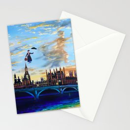 Mary Poppins returns to London Stationery Cards