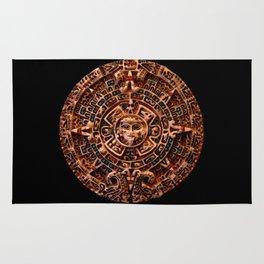Ancient Mayan Sun Calendar Rug