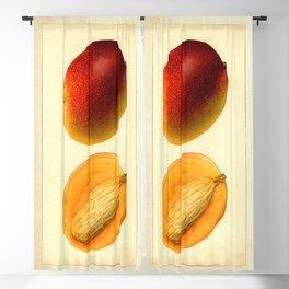 Vintage Botanical Mango Blackout Curtain