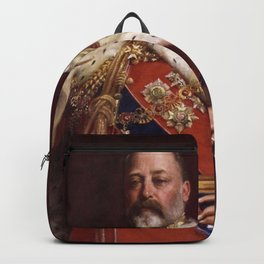 King Edward VII in coronation robes Backpack
