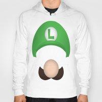 luigi Hoodies featuring Luigi by Aaron Macias