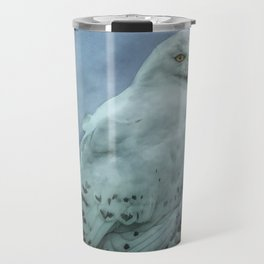 Moonlit Snowy Owl Travel Mug