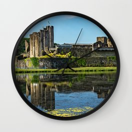 The Towers Of Caerphilly Castle Wall Clock