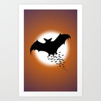 nightwing Art Prints featuring Nightwing by JT Digital Art