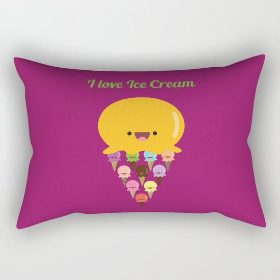 I love Ice Cream! Rectangular Pillow
