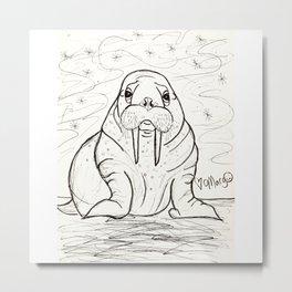 Wonderful Walrus Metal Print