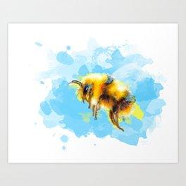 Bumble Away Bumble Bee - Insect Illustration Art Print