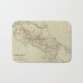 Vintage Map of Costa Rica (1903) Bath Mat