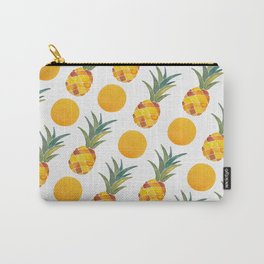 Pineapple Dot Pattern Carry-All Pouch