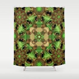 Growth Octagon Mandala Shower Curtain