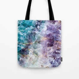 Quartz Stone - Blue and Purple Tote Bag