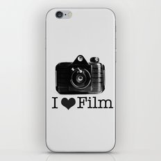 I ♥ Film (Grey/Black) iPhone & iPod Skin