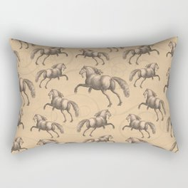 Galloping Spanish Horses Rectangular Pillow