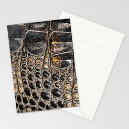 American alligator Leather Print Stationery Cards