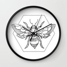 Pen&Ink Bee Tattoo Wall Clock